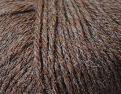 100% Alpaca 4-ply Brown Gray mix balls 50 gram