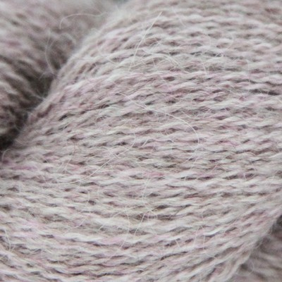100% Baby Alpaca 1 Kg Lilac Snow mix 2/16Nm