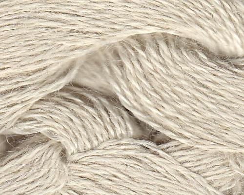 100% Alpaca 3-ply 500 gram White (natural)