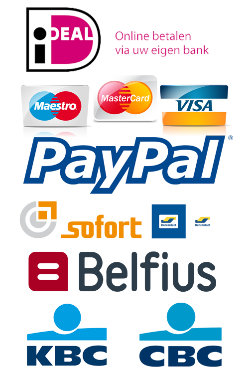Betaalopties iDeal en Credit Cards